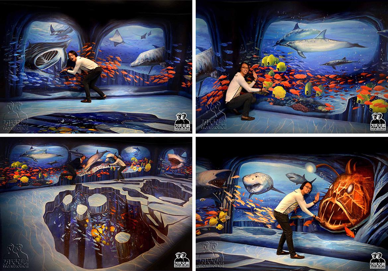 万氏兄弟3D画-海洋世界3D立体画